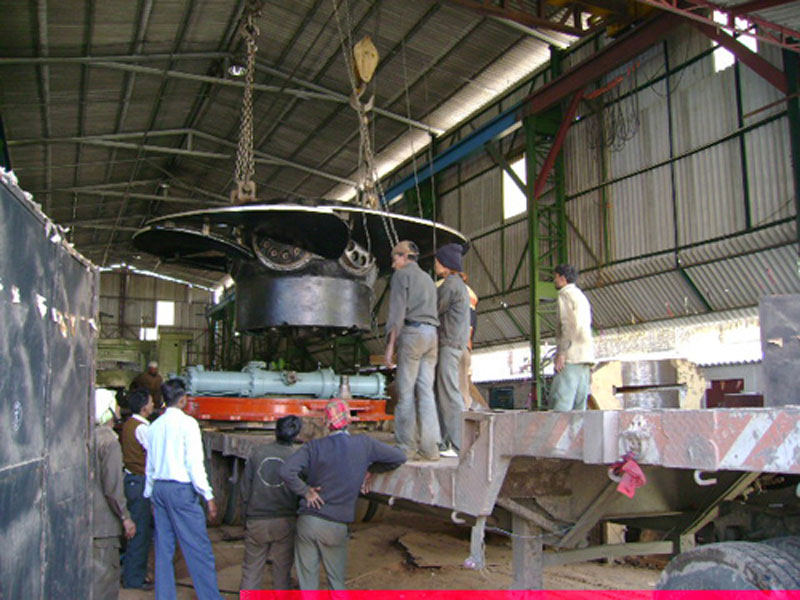 Loading of Runner, Servomotor and Regulating Ring is ready for Dispatch at Chilla Power House Unit-2