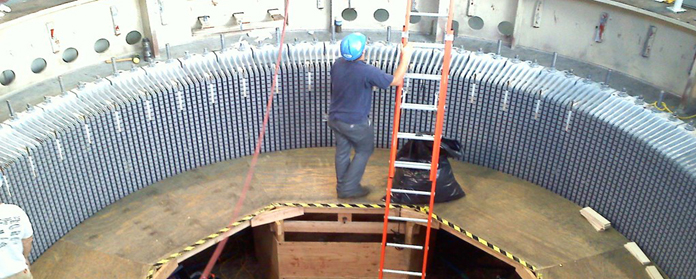 Stator winding of Generator during RM&U of Mohammadpur Power House