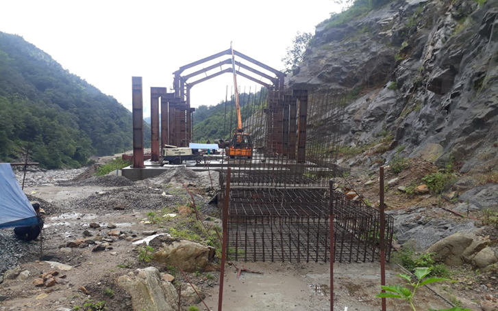 A view of our site (Kaliganga-I) under construction